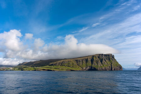 literally: Suduroy ( literally South Island ) is the southernmost of the Faroe Islands . Stock Photo