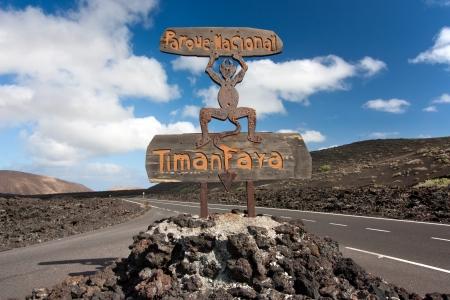 timanfaya: Devil s sculpture at entrance of Timanfaya National Park, Lanzarote, Canary Islands