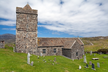 chiefs: St. Clements church . Rodel, Isle of Harris, Outer Hebrides, Scotland . Fifteenth century church built for the Chiefs of the MacLeods of Harris .