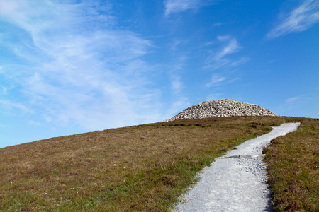 attributable: Barpa Langass (also known as Langass Barp or Langash Barp), is a chambered cairn on the Isle of North Uist in the Outer Hebrides. It is attributable to the Neolithic age. Although the structure has partially collapsed, it is still possible to enter one ch