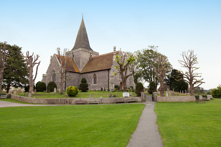 sussex: St  Andrew church, Alfriston, Sussex Stock Photo