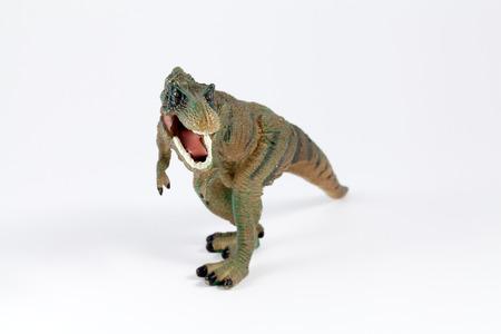 tyrannosaur: Tyrannosaur dinosaur toy isolated over white background