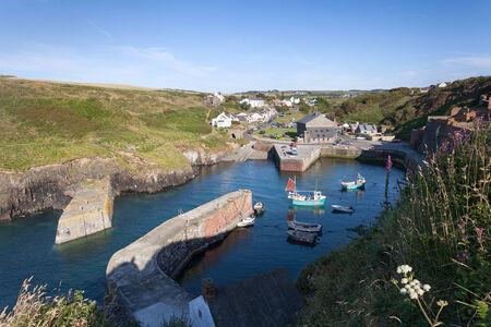 pembrokeshire: Porthgain harbour, Pembrokeshire, Wales Stock Photo