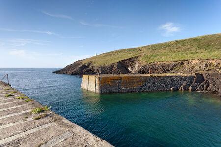pembrokeshire: Porthgain harbour entrance, Pembrokeshire, Wales Stock Photo