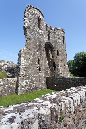 pembrokeshire: Old ruins of Llawhaden Castle, Pembrokeshire, Wales