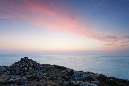 pembrokeshire: Soft dusk light on Pembrokeshire coast