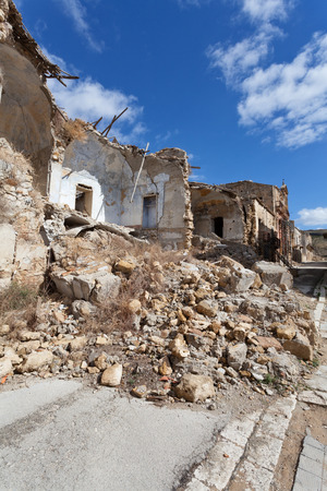 collapsed: Collapsed buildings after an earthquake
