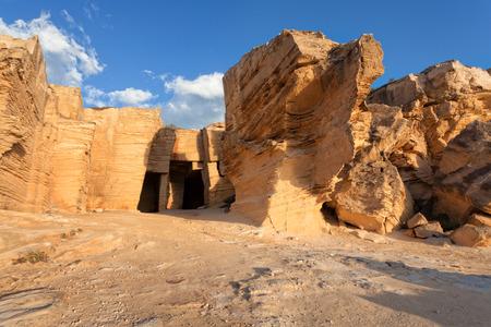 quarries: Tuff quarries of Favignana