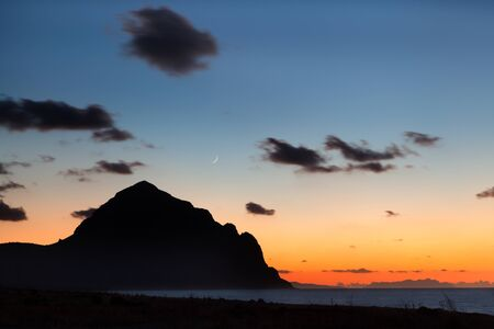 capo: San Vito lo Capo, Sicily: colorful sunset on the mediterranean sea