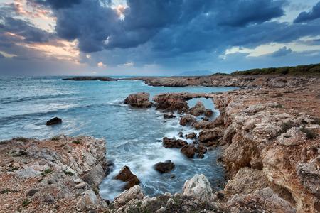 egadi: Rocky coast of island Favignana, Aegadian archipelago