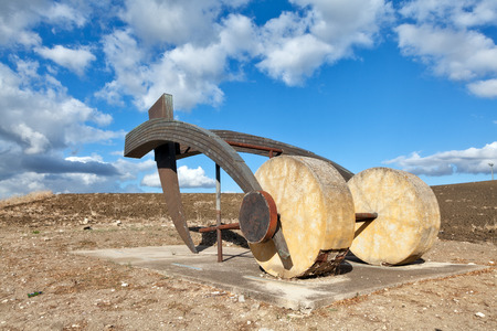 plough: Plough sculpture Stock Photo