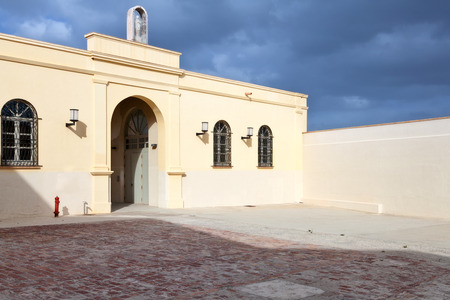 egadi: Former tuna factory in Favignana, Egadi Islands, Sicily Stock Photo