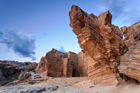 egadi: Tuff cliffs at sunrise