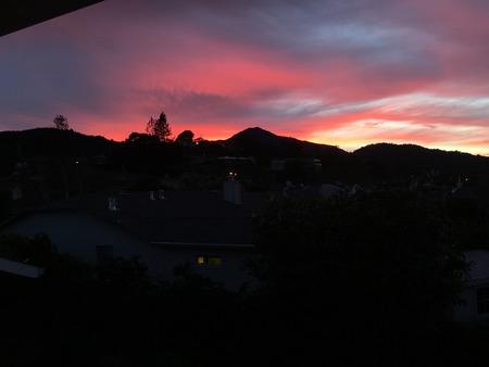 Crazy cool sunset over Mt. Tamalpais #1