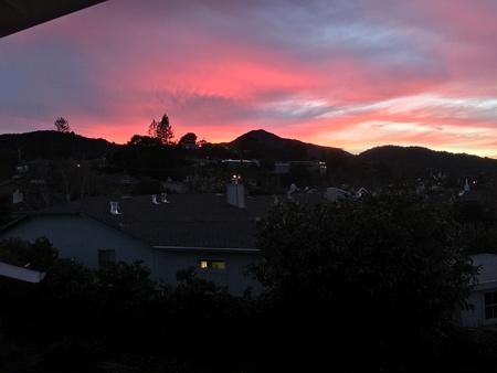 Crazy cool sunset over Mt. Tamalpais #2 Stock Photo