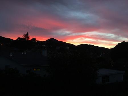 Crazy cool sunset over Mt. Tamalpais #4