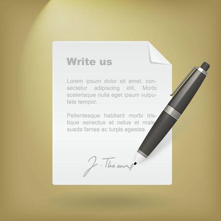 write us: Write us icon