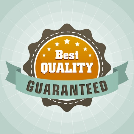 vintage best quality guaranteed label icon