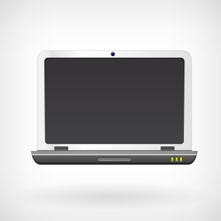 Notebook laptop computer vector icon isollated on white Stock Vector - 19020957