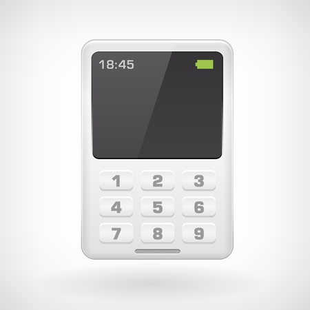 Mobile phone isollated icon on white background Vector