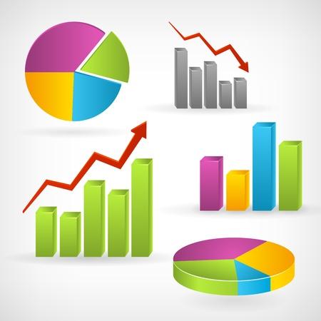 Glanzende grafiek positieve vector infographic icoon Geïsoleerd van de achtergrond Gelaagde