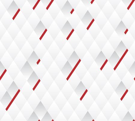 Vector naadloze achtergrond Witte en grijze geometrische patroon breedte rode lijnen Stock Illustratie