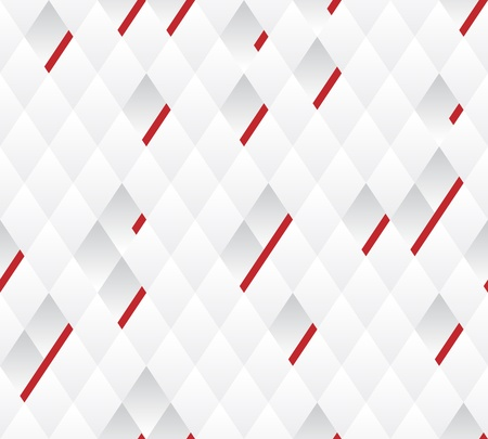 Vector seamless background  White and gray geometric pattern width red lines    Illustration