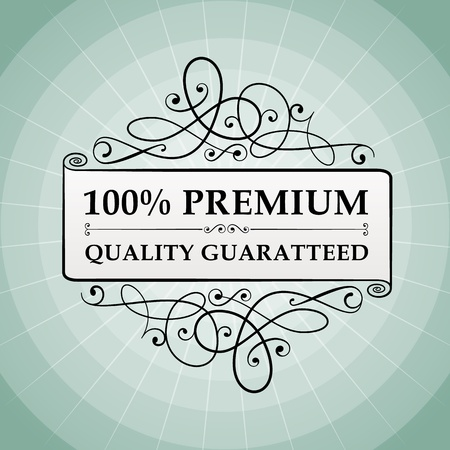 guaranty: vintage 100  premium quality guaranteed label vector icon  Isolated from background  layered