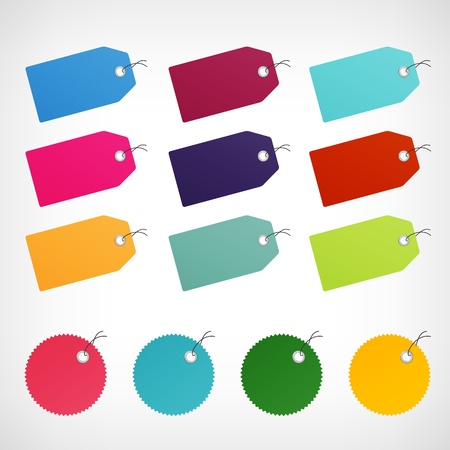blank color price discount labels vector stickers