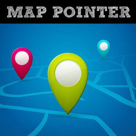 vector map pointer, isolated from background, layered
