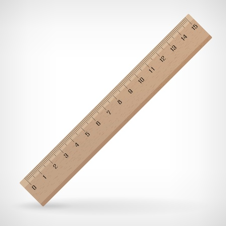 Vector wooden ruler illustration isolated from background Ilustracja