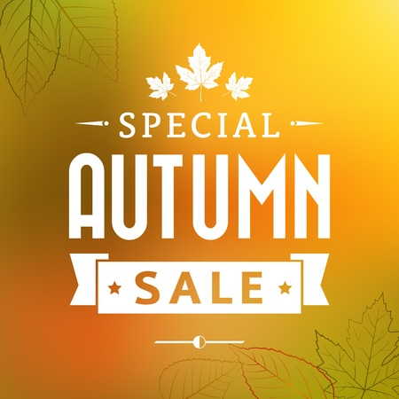autumn special sale vintage vector
