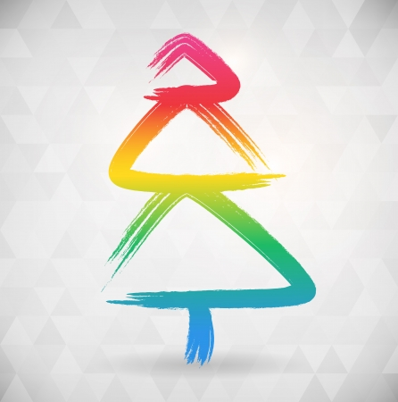 vibrat color: Vibrat color abstract tree background width triangle shapes  vector illustration  Illustration