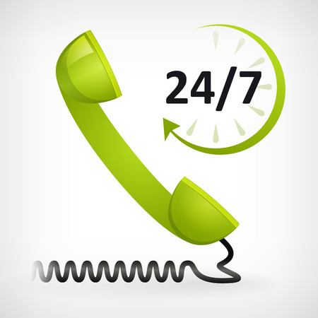 call us twenty four hours icon  customer support Reklamní fotografie - 24056466