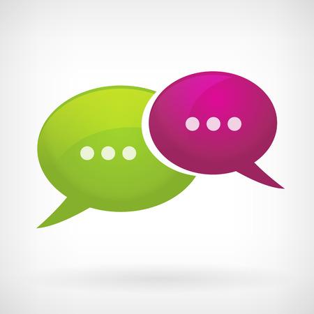 interacci�n: icono de la comunicaci�n de la burbuja discurso