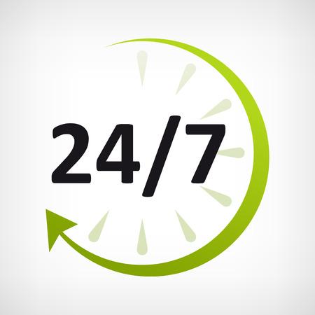 around the clock: twenty four hours opne icon  customer support