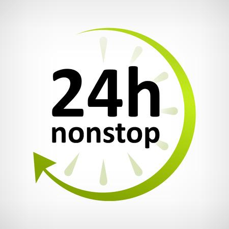 twenty four hours: twenty four hours nonstop open icon customer support