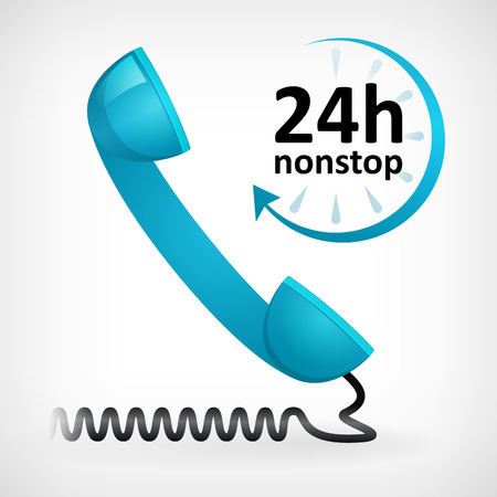 call us twenty four hours nonstop icon  customer support Vector