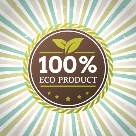 ECO product vector label  isolated form background