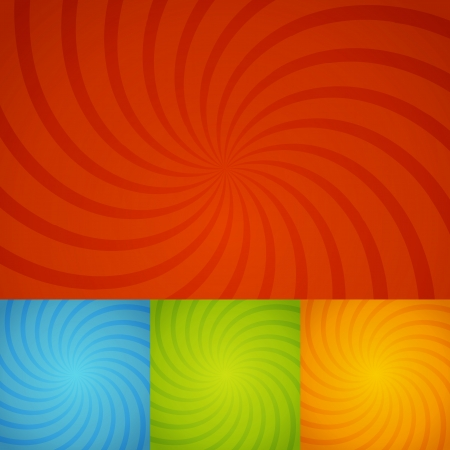 set colorful twirl background for design Vector