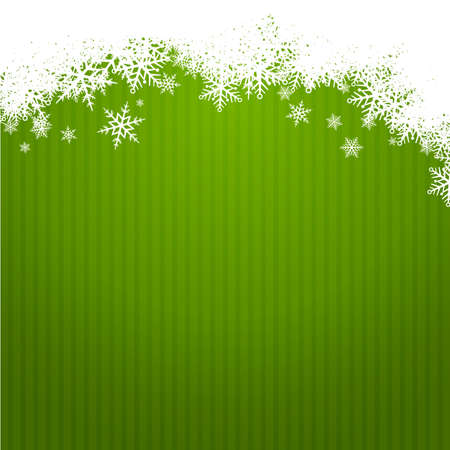 width: green christmas background width snowlakes  new year card
