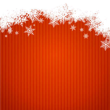 width: red christmas background width snowlakes  new year card