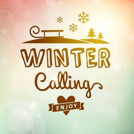 Winter journey calling holidays poster vector poster card  Vector