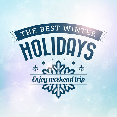 Best Winter holidays trip poster vector card  Isolated from background  Vector