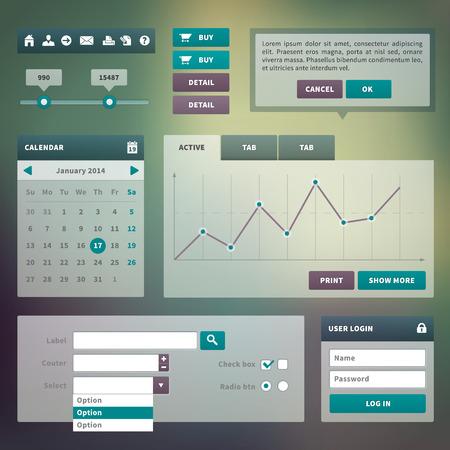 Trend UI-componenten voor het web of e-commerce