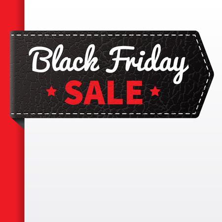 Black Friday sale black leather badge.