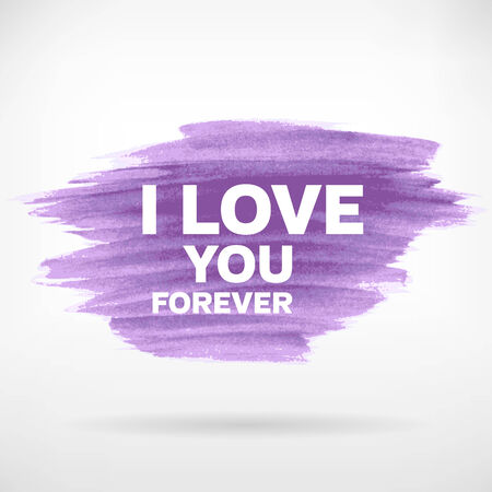 Brushed watercolor grunge i love you women Vector