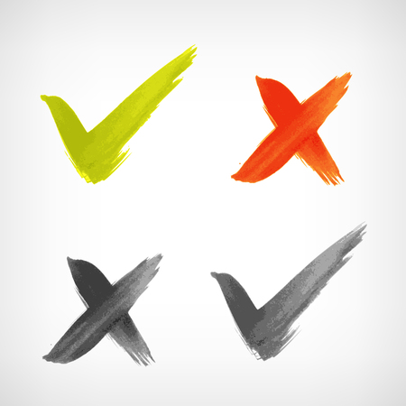 sign ok: Brushed vector check mark sing   icon isolated from background