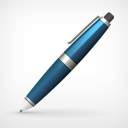 detailed vector pen illustration isolated from background Vector