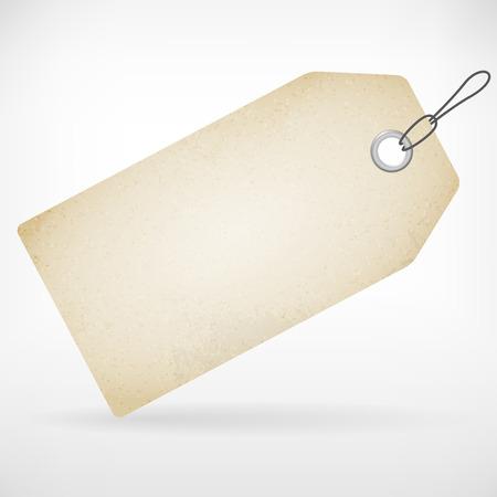 Réaliste vierge tag prix du papier vecteur étiquette isolée de fond posés Banque d'images - 27495656